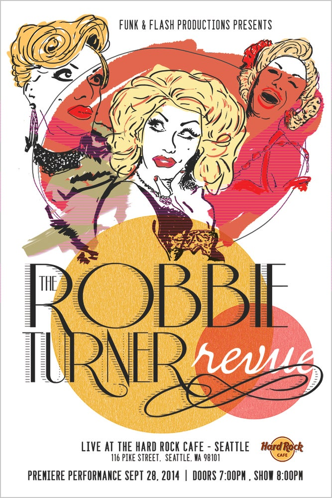Image of Robbie Turner Revue Poster : Premiere Performance