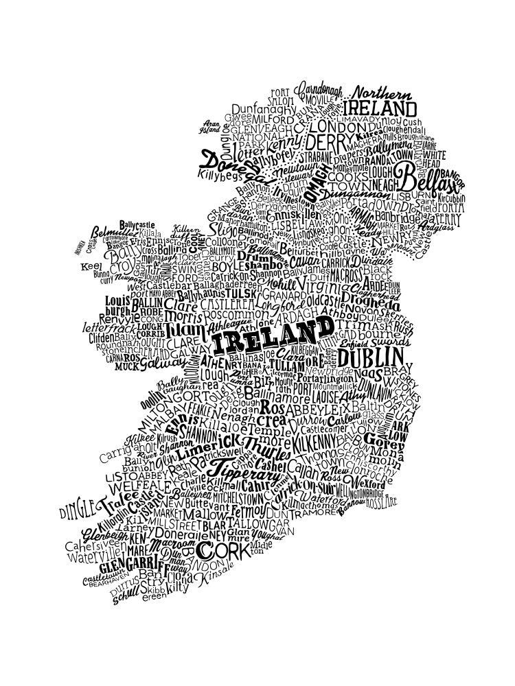 Image of Ireland Type Map (White, 2014)