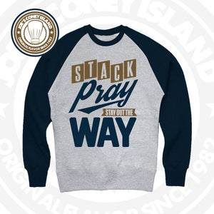 Image of Stack Pray Stay Out The Way - navy Choc