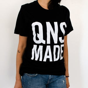 Image of QNS MADE Square Logo T-Shirt - Black