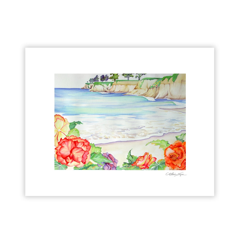 Image of North Beach Begonias, Archival Paper Print