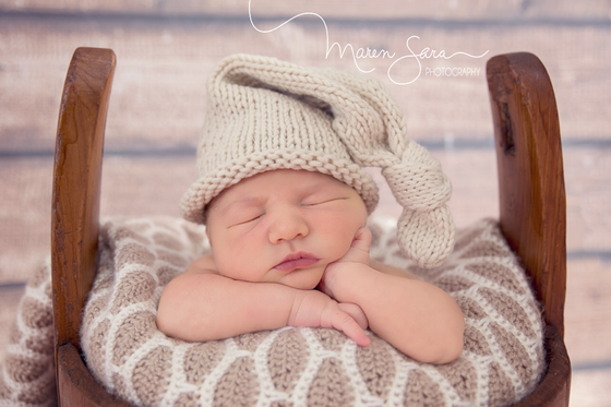 Image of Knotted Knit Hat *Grey/Cream/Coffee*