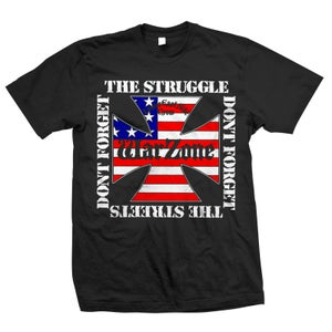 "Image of WARZONE ""Don't Forget The Struggle"" Black T-Shirt"