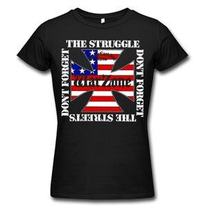 """Image of WARZONE """"Don't Forget The Struggle"""" Black Girlie Shirt"""