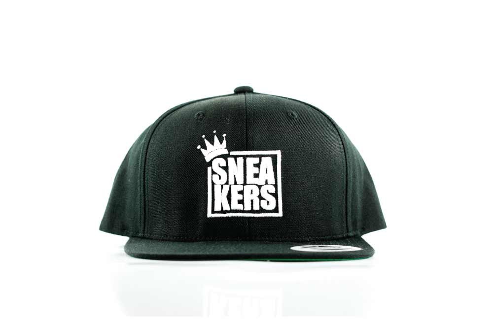 Image of Sneakers App Logo Black Cap. 3D Embroidery
