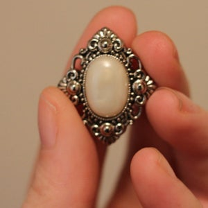 Image of Silver & Pearl Fancy Plugs (sizes 0g-3/4)