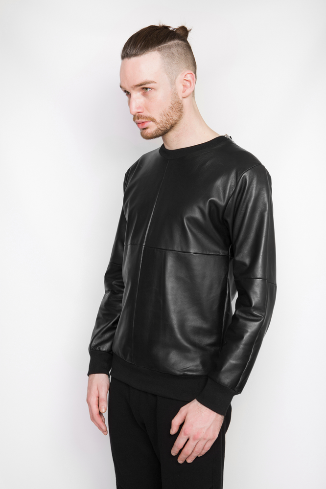 Image of Ⅲ B Napa Leather Sweater