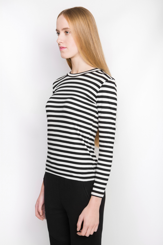 Image of Ⅲ BW Stripe T-Shirt