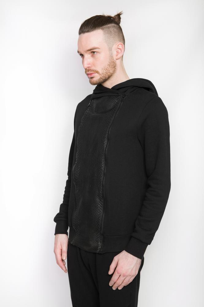 Image of Ⅲ Elegas Noir Python Jacket