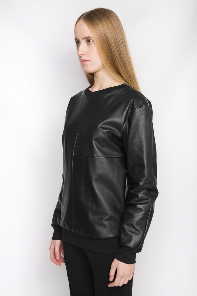 Image of Ⅲ B Napa Leather Sweater W