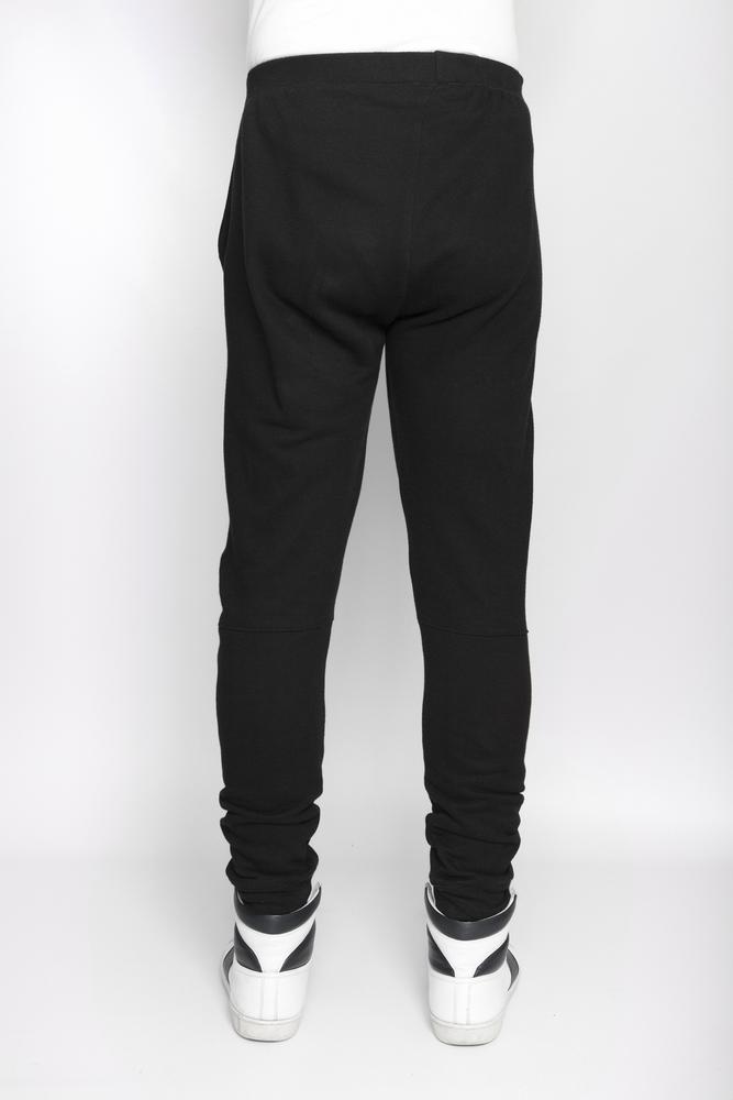 Image of Ⅲ Black Panelled Sweatpants - M