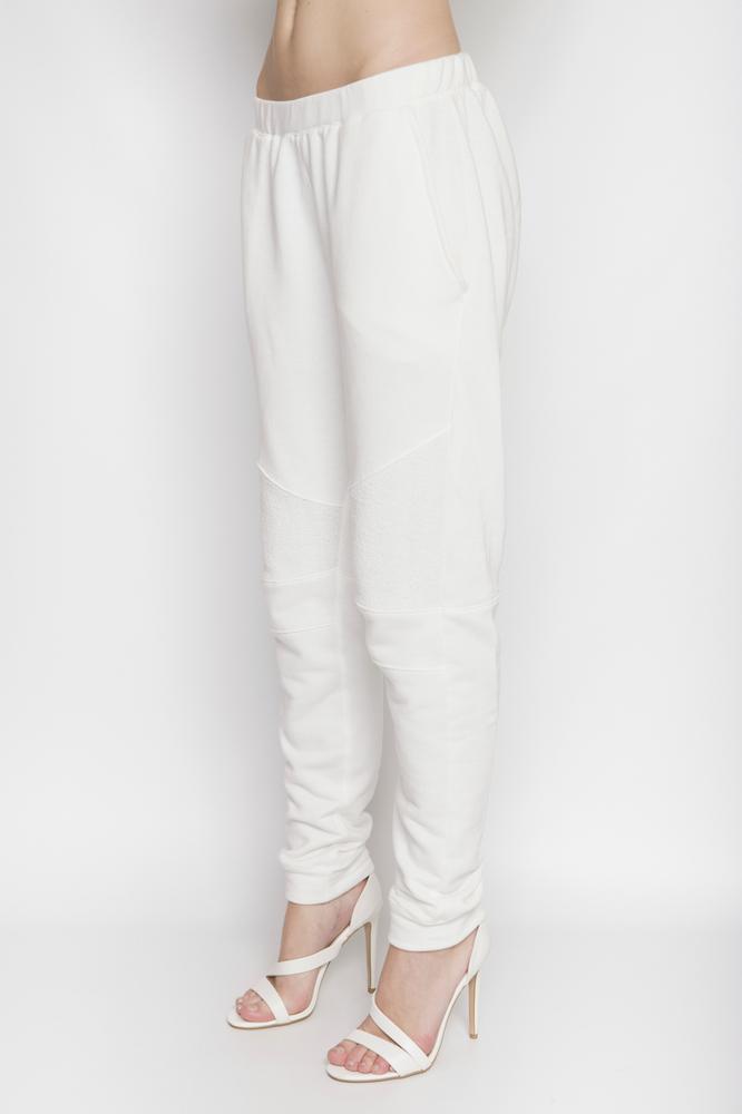 Image of Ⅲ White Panelled Sweatpants - W