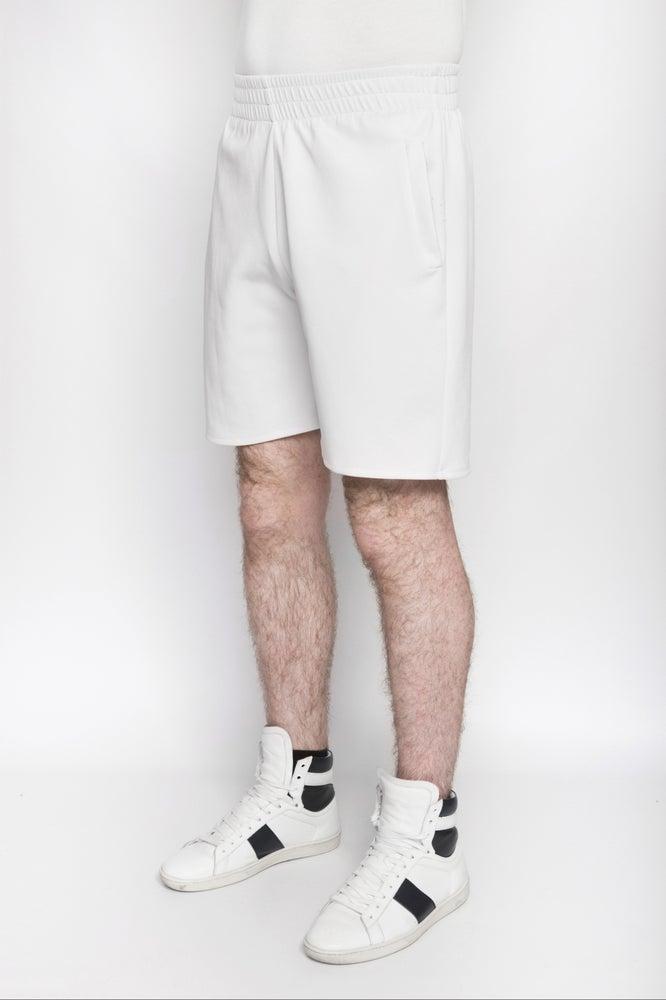 Image of Ⅲ White Neoprene Shorts
