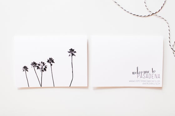 Image of Palm Trees Notecard