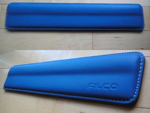 Image of Filco Blue Leather/White Stitch Wrist Rest