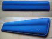 Image of Filco Blue Leather/White Stitch Wrist Rest