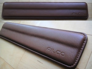 Image of Filco Brown Leather/Brown Stitch Wrist Rest
