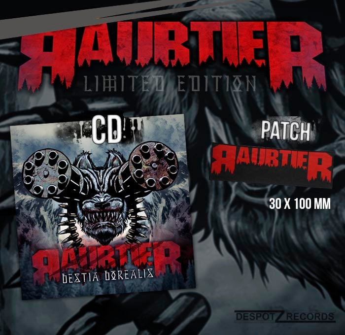 Image of Raubtier - Bestia Borealis CD incl. sew on patch