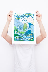 Image of A Smooth Sea Never Made A Skilled Sailor - Framed Screenprint