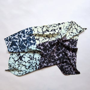 Image of Silk Scarf, small / Blue