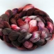 Image of Chocolate & Roses - Merino/SW Merino/Silk Wool Top/Roving