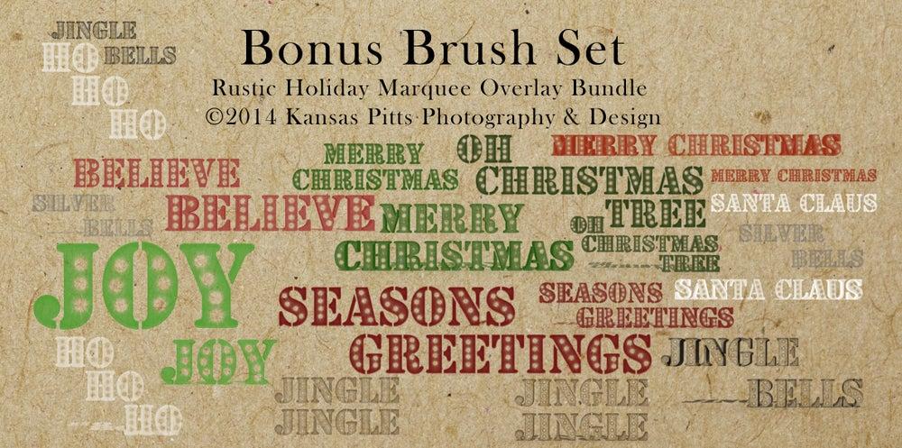 Image of Rustic Holiday Marquee Overlay Bundle + Bonus Brush Set | Black Friday Exclusive