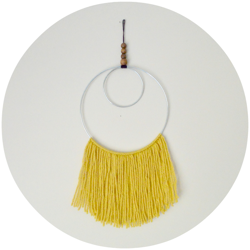 Image of Mustard Textile Wall Hanging