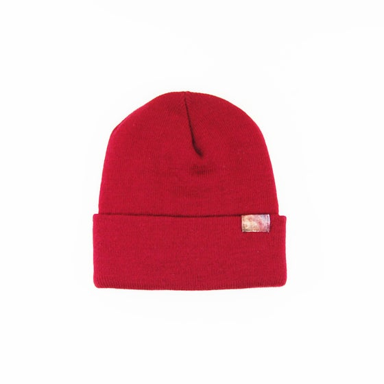 Image of Starship Galaxy Beanie Maroon