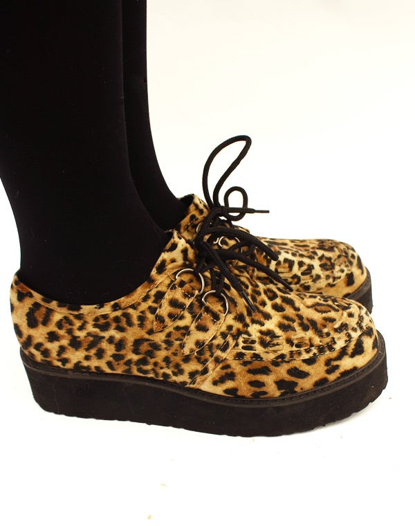 Image of Chaussures style Creepers léopard