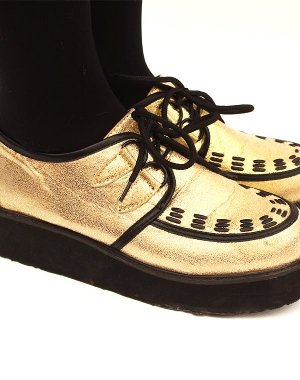 Image of Chaussures style Creepers dorées