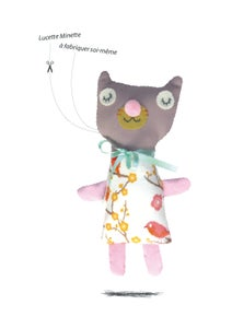 Image of Lucette Minette / kit doudou