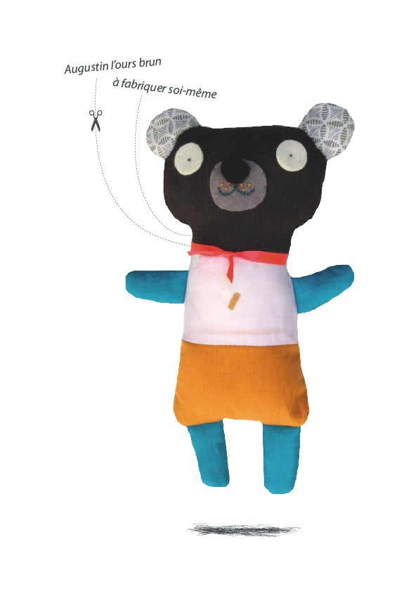Image of Augustin l'ours brun / kit doudou