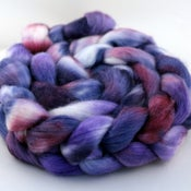 Image of Concord - Organic Polwarth/Mulberry Silk Wool Top/Roving