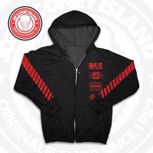 Image of JCI Sport Black/Red Zip Hoodie