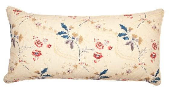 Image of Downton Red & Indigo Large Bolster Pillow