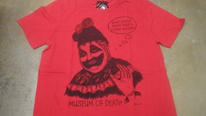 """Image of Pogo The Clown """"You've Never Seen A Clown Before?"""" Shirt RED"""