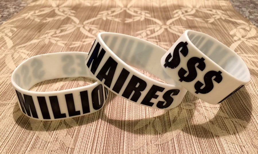 "Image of Millionaires ""$$$"" Wristband"