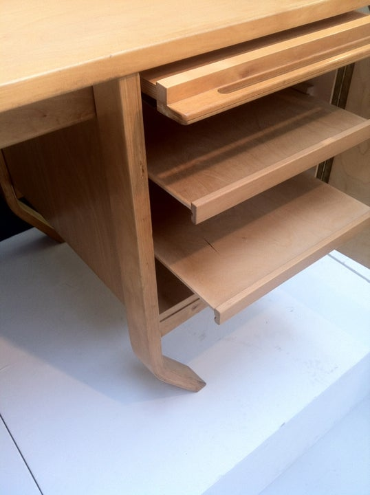 Image of 1950s Dutch Bent Ply Desk