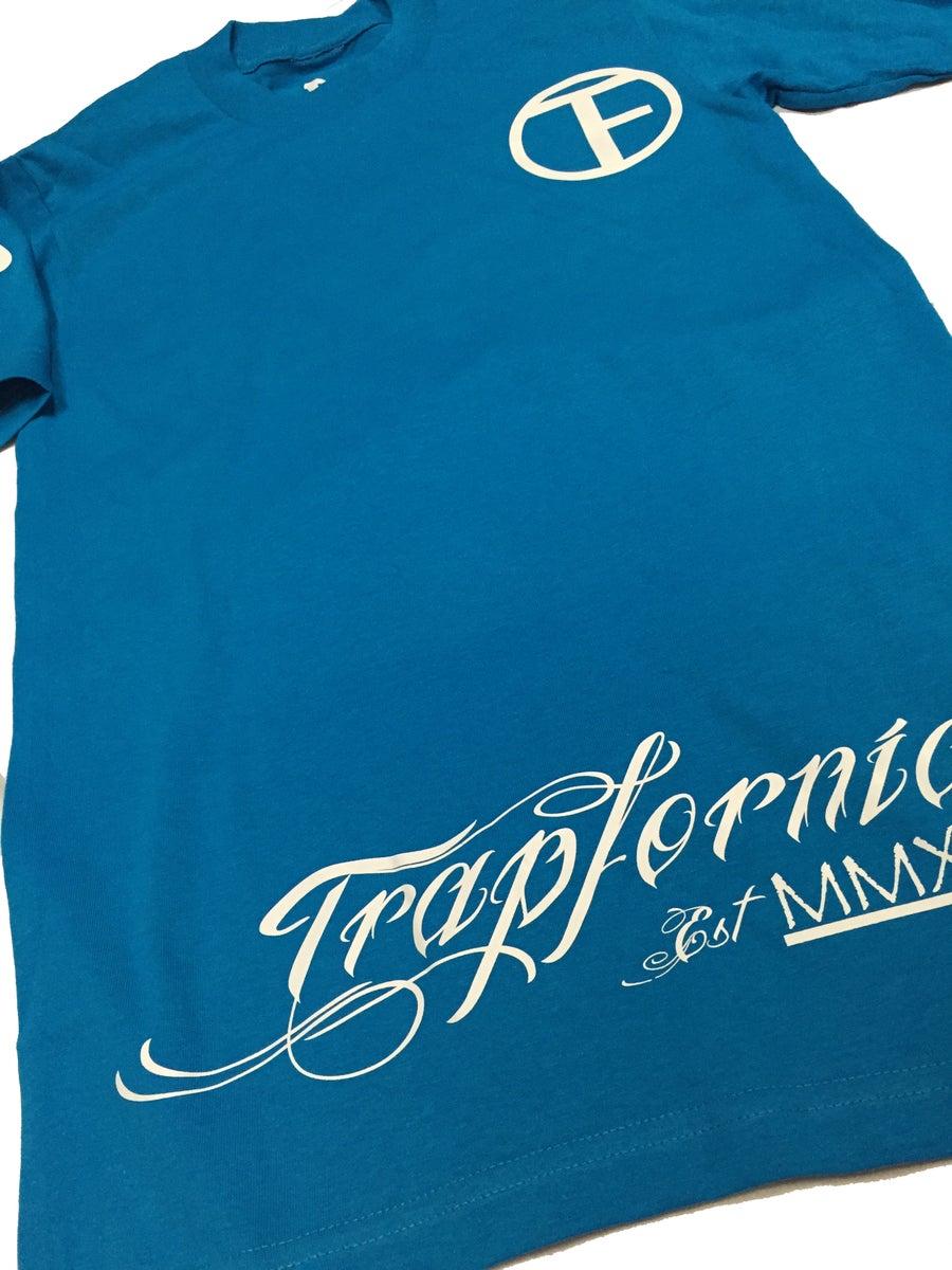 Image of TRAPfornia Logo Tee - Turquoise