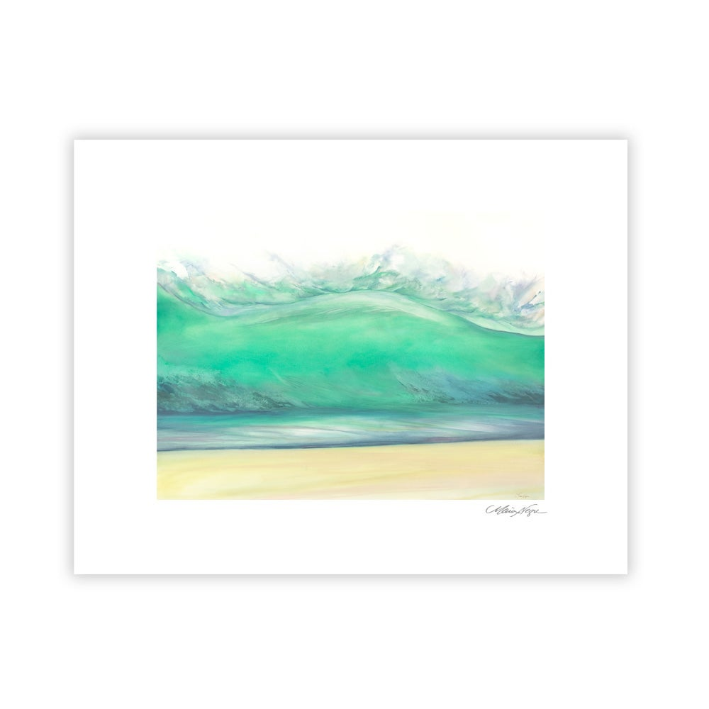 Image of Green Wave, Archival Paper Print