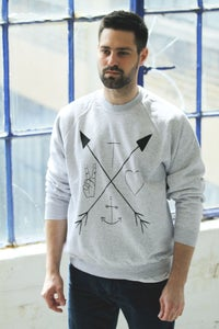 Image of Arrow Symbols Grey Sweater