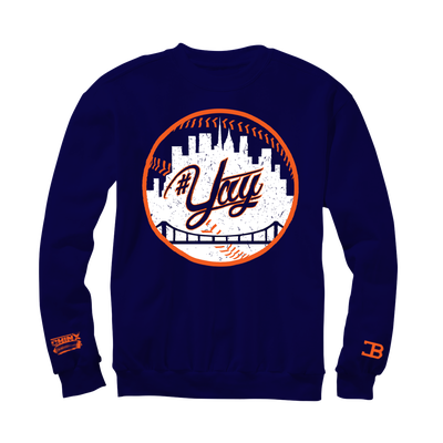 Image of Royal Blue Yay Mets Crew