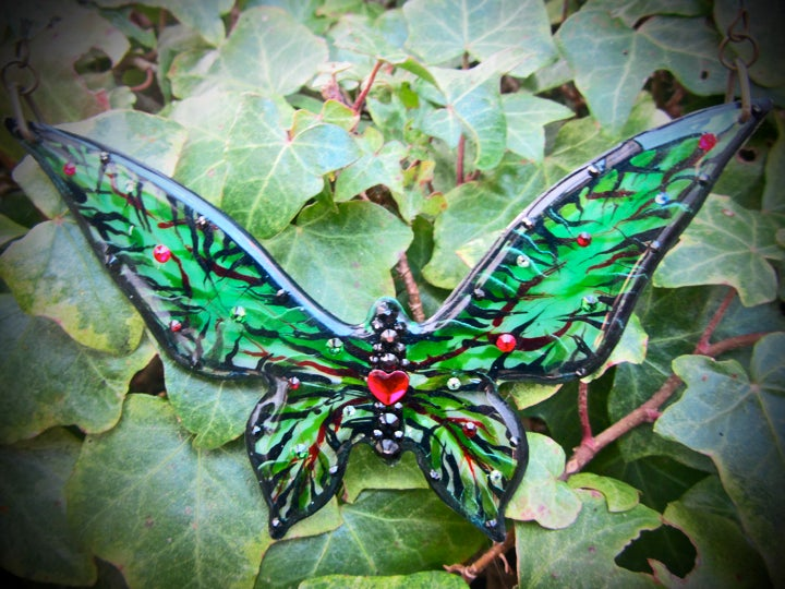 Image of Poison Ivy Large Butterfly Resin Necklace