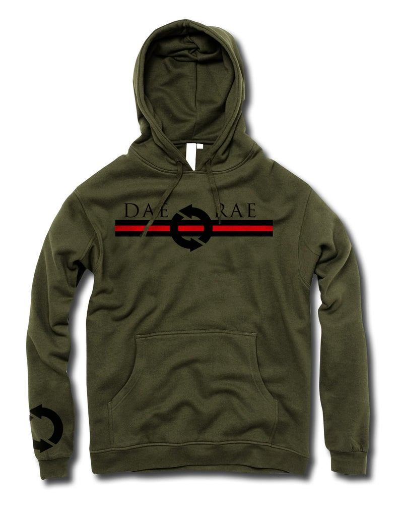 Image of Front and Center Hoodie - Army