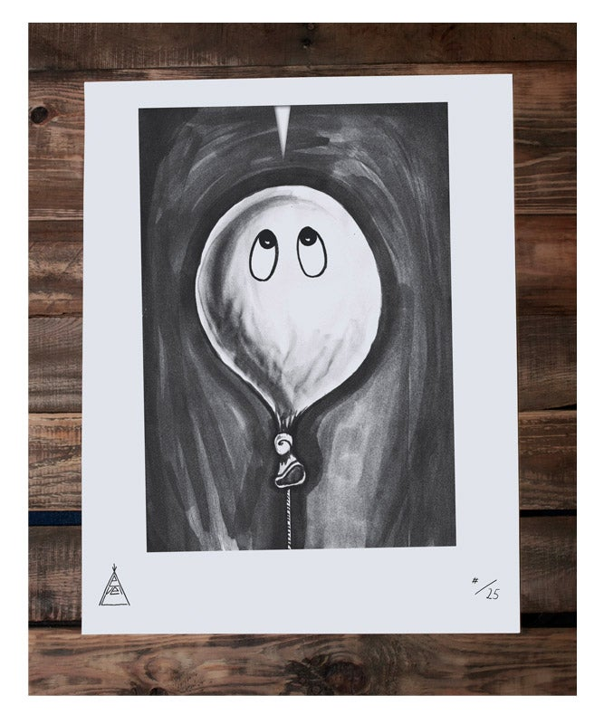 """Image of Limited Screenprint Poster """"Balloon"""""""