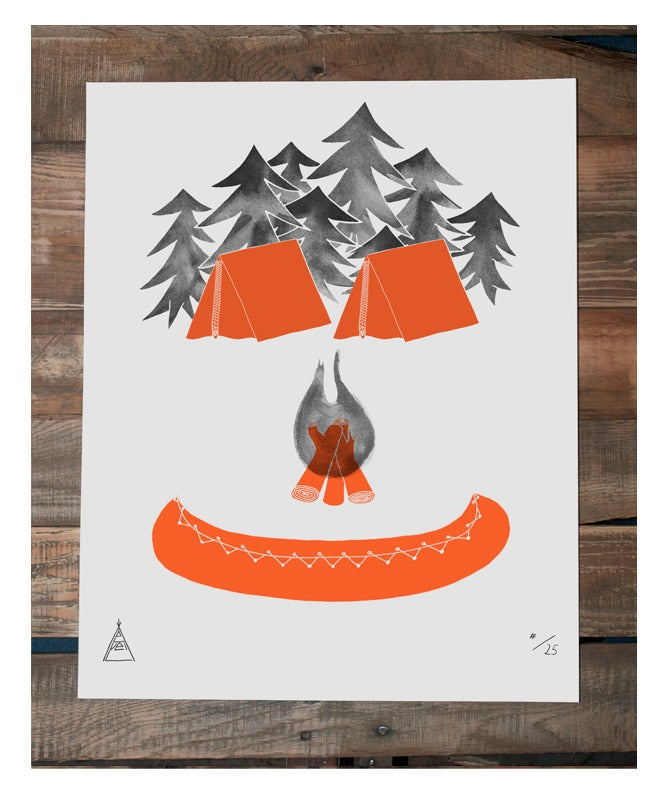 """Image of Limited Screenprint Poster """"Outdoors"""""""
