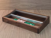 Image of 6u 104hp curved walnut desktop case