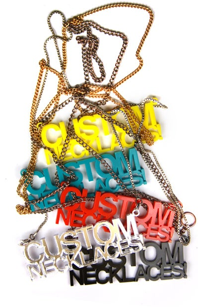 Image of CUSTOM TEXT NECKLACE (WRITE ANYTHING YOU WANT!)