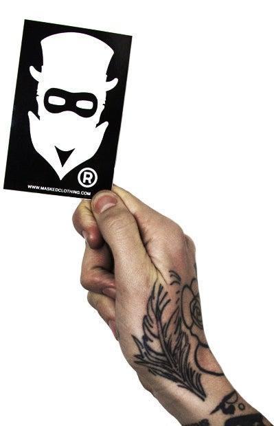 Image of Masked logo Sticker