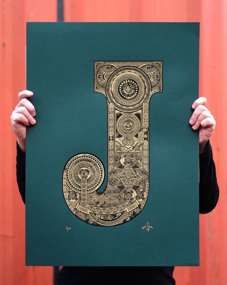 Image of The Illustrated Letter Project: 'J'